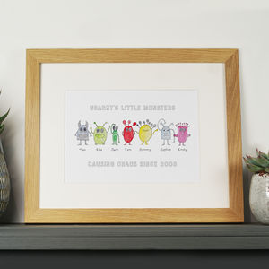 Personalised Monster Family Print