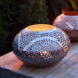 Oval Tabletop Garden Lantern - lights & lanterns