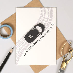 Personalised Father's Day Racing Car Card