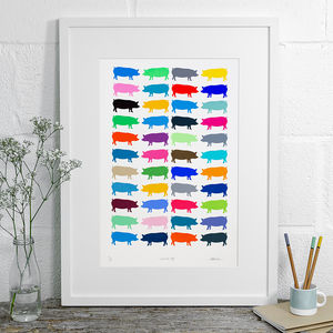 Cornish Pigs Limited Edition Screen Print