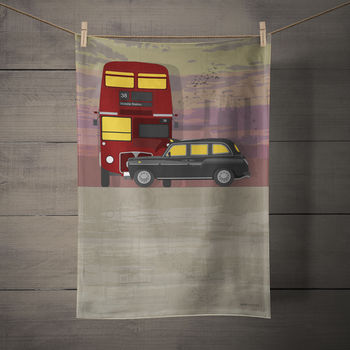 London Transport Tea Towel
