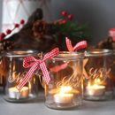 Set Of Four Noel Hanging Tealight Votives