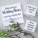 Personalised Wedding Dares Table Decoration Game