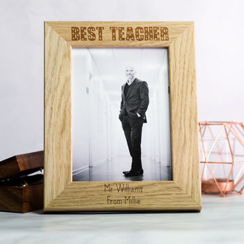 Personalised Best Teacher Photo Frame