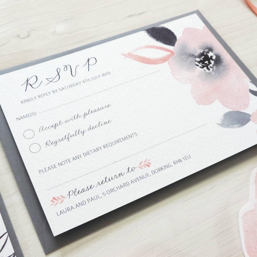 in wedding invitations is the man s name first%0A  u    Sweet Posey u     RSVP   u