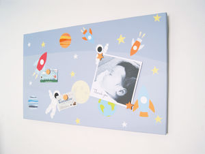Space Man Magnetic Noticeboard - noticeboards