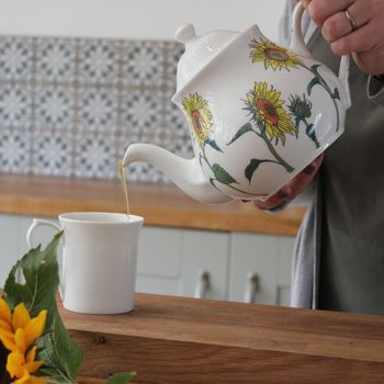 personalised sunflower teapot