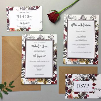 Country 'Rustic' Romance Wedding Stationery