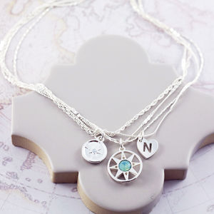 Compass Multi Chain Necklace