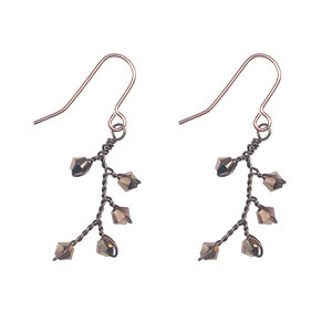 Rose Gold Dewdrop Earrings