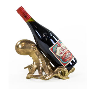 Antique Effect Octopus Wine Bottle Holder - drink & barware