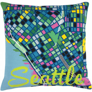 Contemporary Seattle City Map Tapestry Kit - shop by price