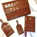 Leather Travel Accessories Wallet Passport Holder Tags