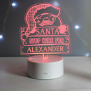 Personalised Santa LED Colours Night Light