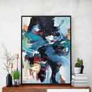 Abstract 137 Blue Art Print A5 A4 A3 Size