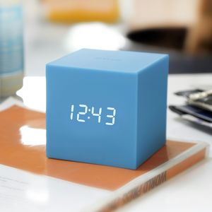 Gravity Cube Click Clock - clocks