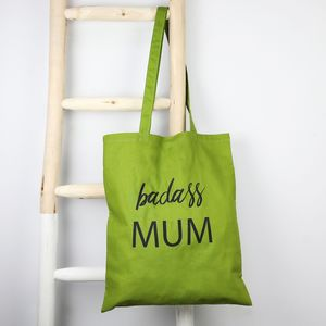 'Badass Mum' Cotton Tote Bag