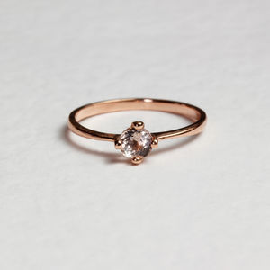 Morganite Petal Ring Silver/Gold/Rose Gold - engagement rings