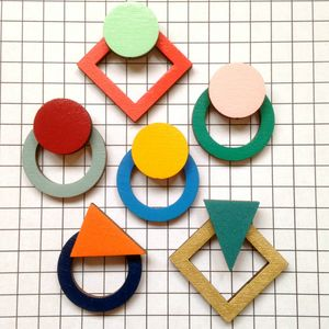 Contemporary Geometric Stud Earrings - earrings