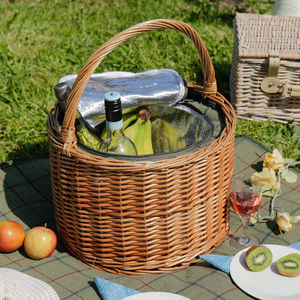 Personalised Barrel Tweed Chiller Picnic Hamper - outdoor living
