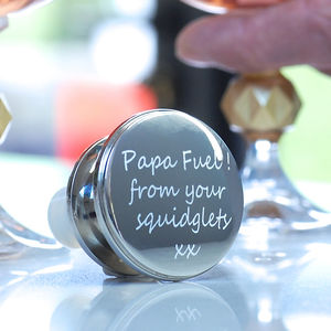 Personalised Silver Wine Bottle Stopper