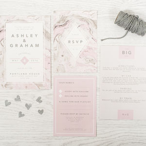 Marble Dream Wedding Invitation - invitations