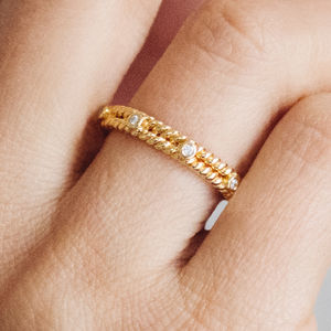 Braided Ethical Fairtrade Diamond Wedding Ring - less ordinary diamonds