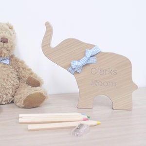 Personalised Wooden Elephant Keepsake - favourites