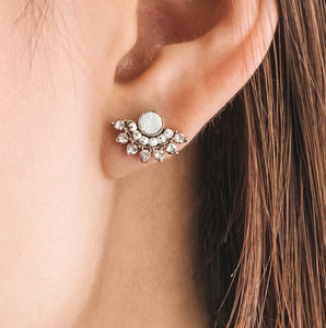 Nico Fan Crystal Earrings
