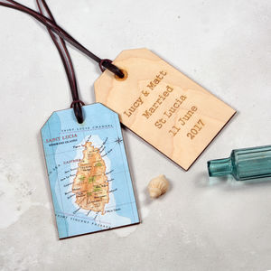 Map Location Luggage Keepsake Anniversary Wedding Gift