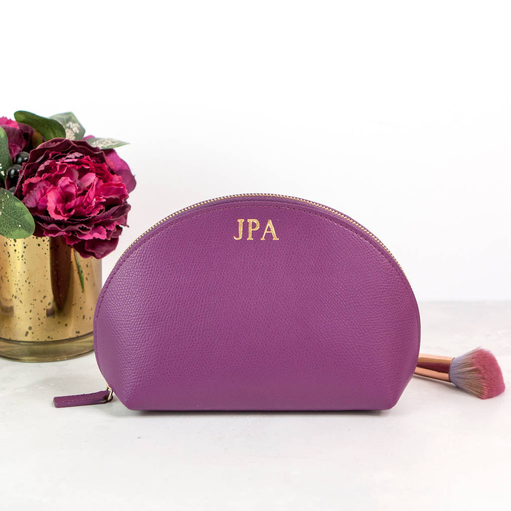 a7a0d6f6b76467 personalised leather make up bag by begolden