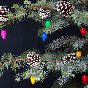 Vintage Coloured String Christmas Lights - lighting