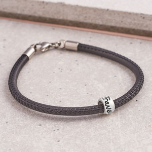 'Travel Safe' Leather Mojo Bracelet - bracelets & bangles