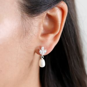 Vintage Pearl Drop Earrings - wedding fashion