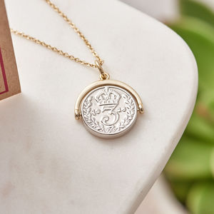 Lucky Penny Spinning Charm Necklace With Card - necklaces & pendants