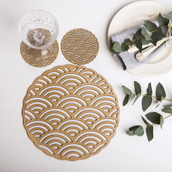 After Rain Placemats And Coasters Set