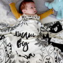 Personalised Woodland Baby Organic Swaddle Blanket