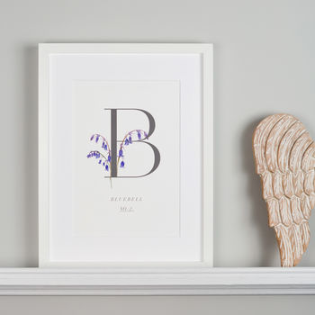 Botanical Bluebell Illustration Giclee Art Print