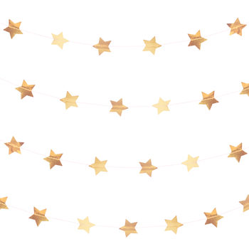 Rose Gold Star Bunting