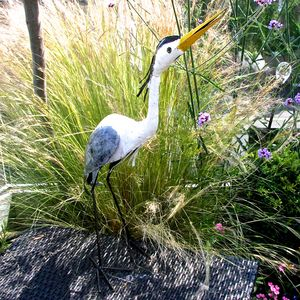 Lifesize Heron Garden Sculpture - new in garden