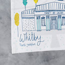 Whitby Tea Towel Close Up