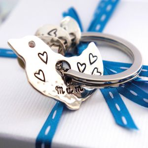 Personalised Spinning Mother Bird Silver Keyring - shop by recipient