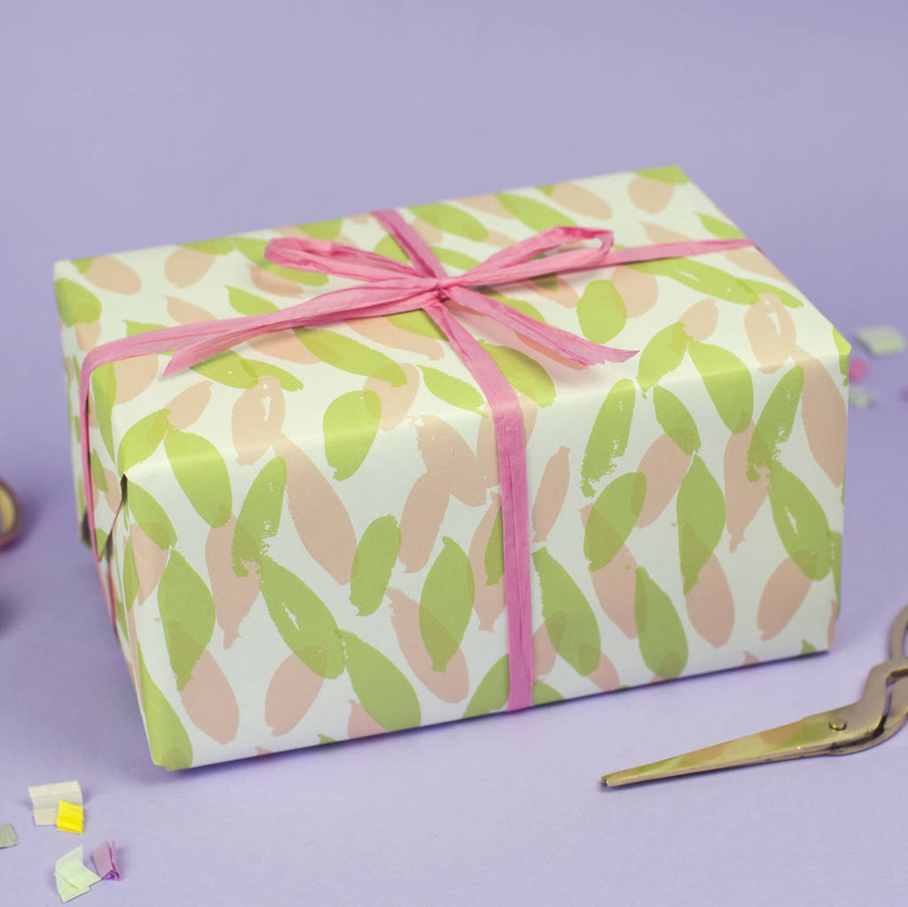 Leaf Pattern Wrapping Paper