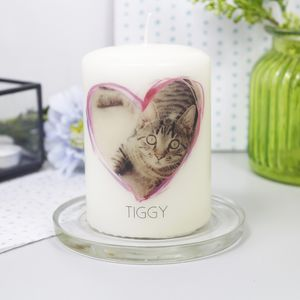 Personalised Pet Photo Candle