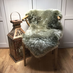 Limited Edition Light Sage Sheepskin Rugs - living room