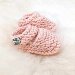 Knit Your Own: Baby Girl's Booties Knitting Kit - creative kits & experiences