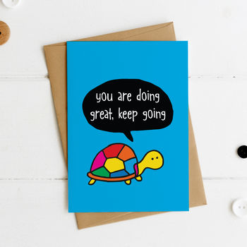 You Are Doing Great Keep Going Postcard
