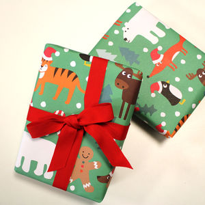 Christmas Character Wrapping Paper - wrapping