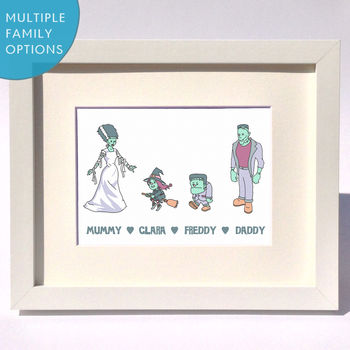 Personalised Monsters Family Print