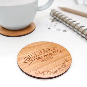 Personalised Best Teacher Coaster - whatsnew